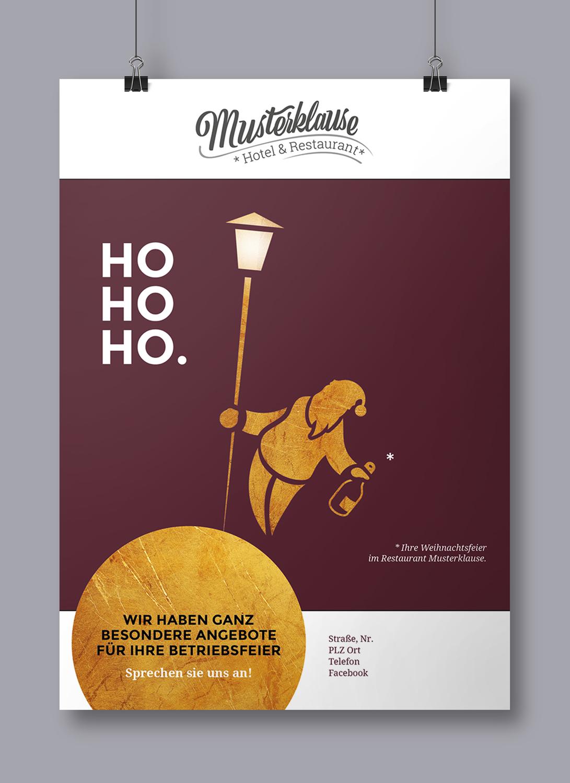 Weihnachtsfeier Plakat.Werbekampagnen Für Hotellerie Und Gastronomie Im Detail Hogastisch